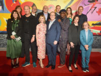 "LOS ANGELES, CA - JUNE 05:  (Back row L-R) Nicole Paradis Grindle, John Walker, John Ratzenberger, Bob Odenkirk, Sophia Bush, Jere Burns, and (front row L-R) Catherine Keener, Craig T. Nelson, Holly Hunter, Brad Bird, Samuel L. Jackson, Sarah Vowell, and Huck Milner attend the World Premiere Of Disney-Pixar's ""Incredibles 2"" at El Capitan Theatre on June 5, 2018 in Los Angeles, California.  (Photo by Alberto E. Rodriguez/Getty Images for Disney) *** Local Caption *** Huck Milner; Sarah Vowell; Samuel L. Jackson; Brad Bird; Holly Hunter; Craig T. Nelson; Catherine Keener; Bob Odenkirk; John Ratzenberger; John Walker; Nicole Paradis Grindle"