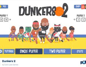 'Dunkers 2', juego online para colgarse del aro