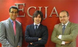 Hugo Écija, Alejandro Touriño y Carlos Pérez