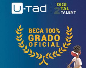 U-Tad lanza el segundo concurso 'Digital Talent' que premia con tres becas en diferentes áreas